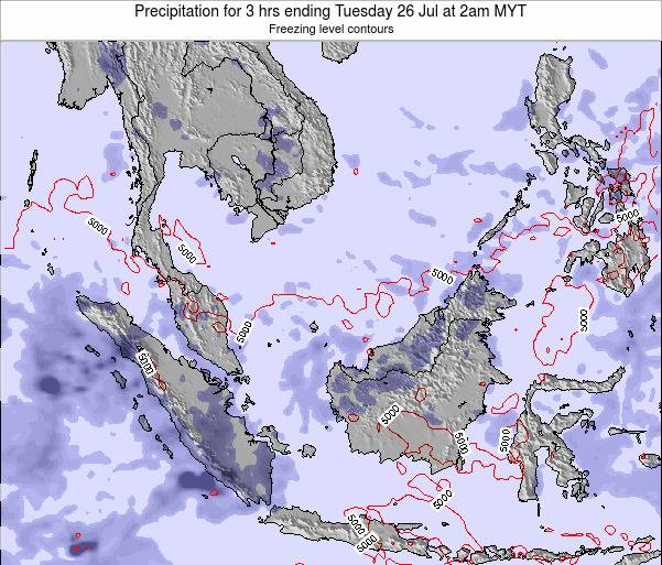 Singapore Precipitation for 3 hrs ending Friday 25 Jul at 2am MYT map