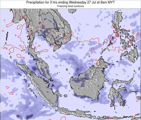 Malaysia Precipitation for 3 hrs ending Monday 27 May at 2am MYT map