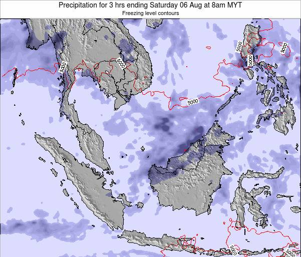 Malaysia Precipitation for 3 hrs ending Sunday 08 Dec at 2am MYT map