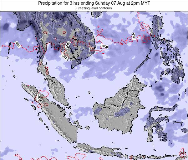 Malaysia Precipitation for 3 hrs ending Saturday 18 May at 8am MYT