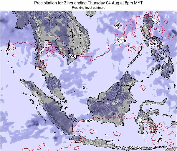 Malaysia Precipitation for 3 hrs ending Thursday 23 May at 2pm MYT map
