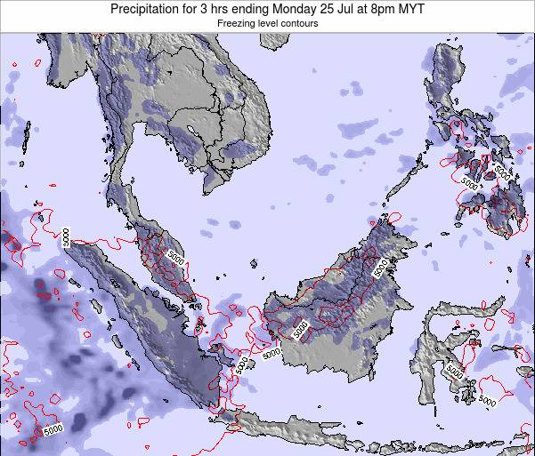Malaysia Precipitation for 3 hrs ending Saturday 26 Apr at 8pm MYT map