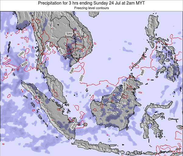 Malaysia Precipitation for 3 hrs ending Sunday 03 Aug at 2am MYT map