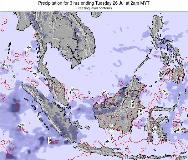 Malaysia Precipitation for 3 hrs ending Tuesday 11 Mar at 2pm MYT
