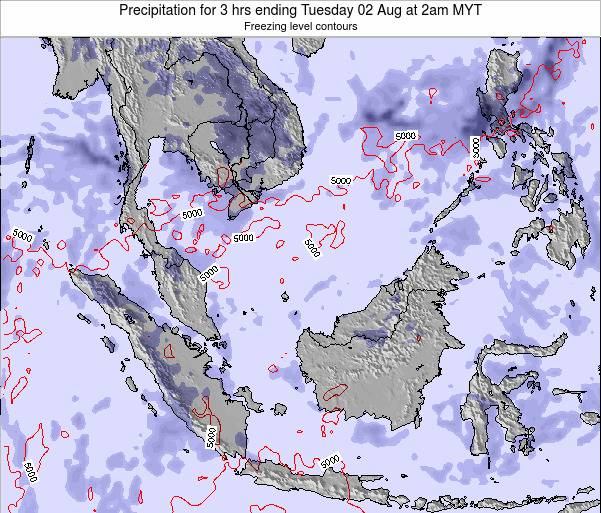 Malaysia Precipitation for 3 hrs ending Tuesday 21 May at 8pm MYT