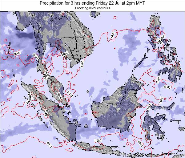Malaysia Precipitation for 3 hrs ending Thursday 24 Apr at 2am MYT