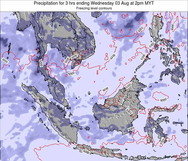 Malaysia Precipitation for 3 hrs ending Saturday 26 Jul at 2am MYT