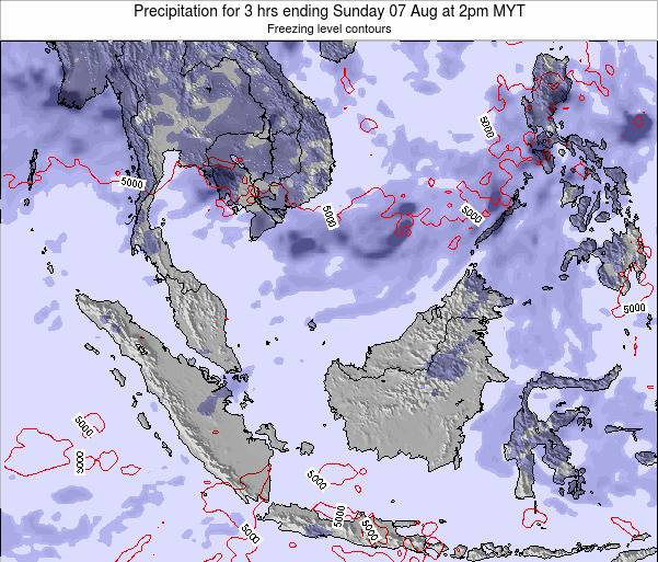 Malaysia Precipitation for 3 hrs ending Saturday 26 Apr at 8am MYT