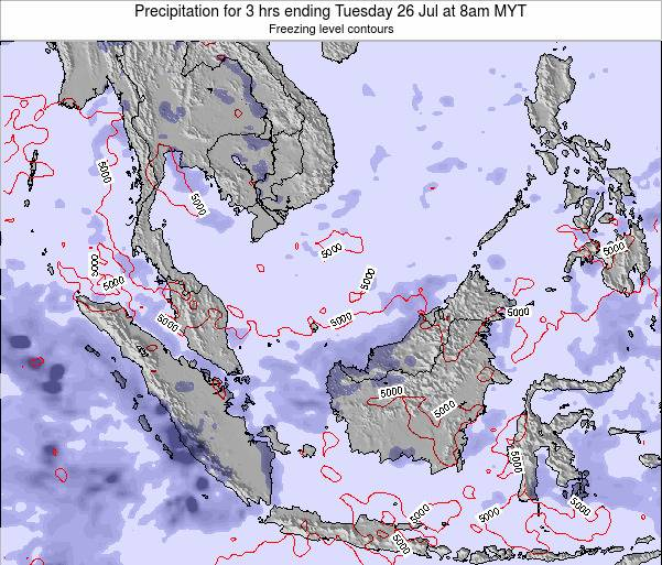 Malaysia Precipitation for 3 hrs ending Tuesday 10 Dec at 8am MYT