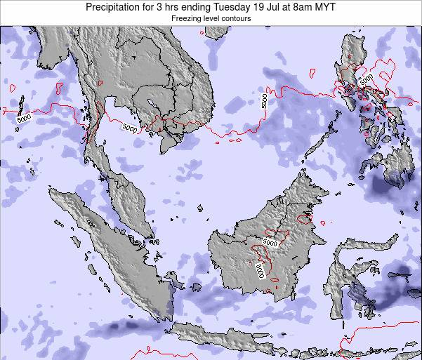 Singapore Precipitation for 3 hrs ending Saturday 14 Dec at 8pm MYT map