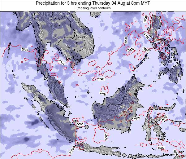 Singapore Precipitation for 3 hrs ending Friday 24 May at 2pm MYT map