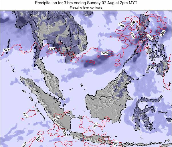 Singapore Precipitation for 3 hrs ending Tuesday 22 Apr at 8pm MYT map