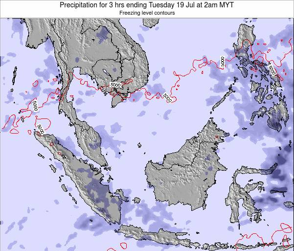 Singapore Precipitation for 3 hrs ending Wednesday 12 Mar at 2am MYT map