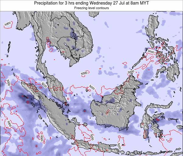 Malaysia Precipitation for 3 hrs ending Sunday 15 Dec at 8pm MYT map