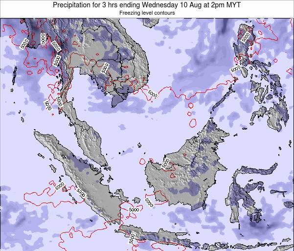 Malaysia Precipitation for 3 hrs ending Sunday 27 Apr at 2am MYT map