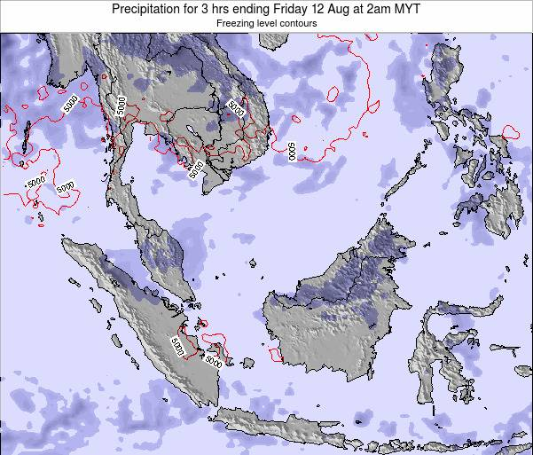 Malaysia Precipitation for 3 hrs ending Saturday 25 May at 2am MYT map