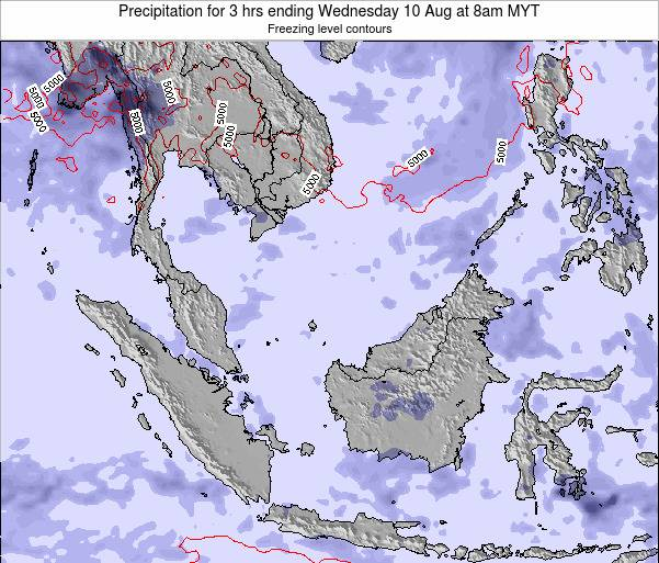 Malaysia Precipitation for 3 hrs ending Monday 21 Apr at 2pm MYT map