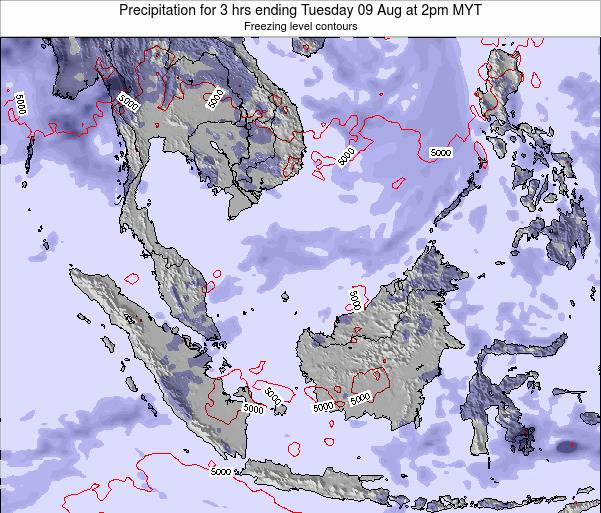 Malaysia Precipitation for 3 hrs ending Sunday 27 Jul at 8pm MYT map