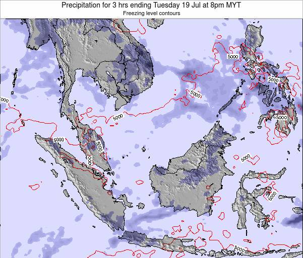Brunei Darussalam Precipitation for 3 hrs ending Tuesday 28 May at 2am MYT map