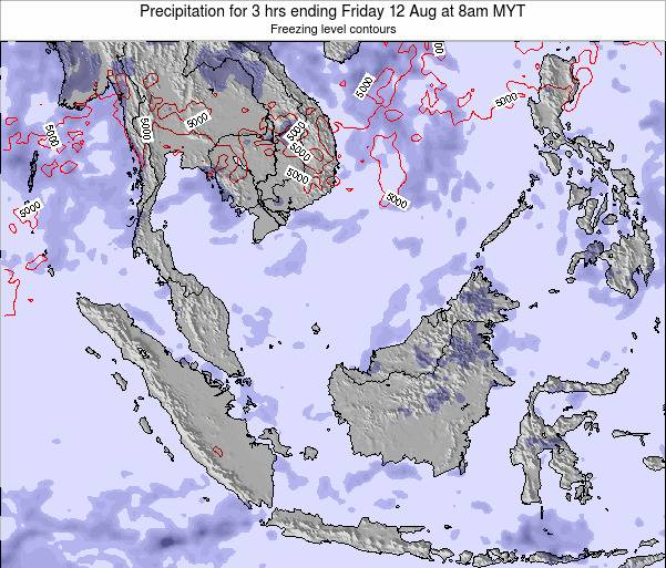 Malaysia Precipitation for 3 hrs ending Monday 27 May at 8pm MYT map