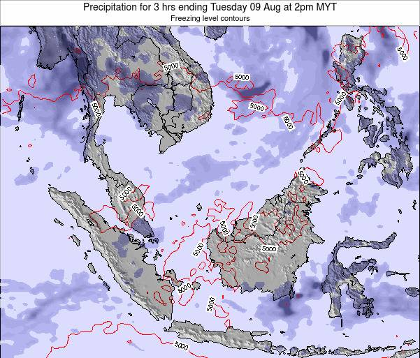 Singapore Precipitation for 3 hrs ending Sunday 27 Apr at 2pm MYT map
