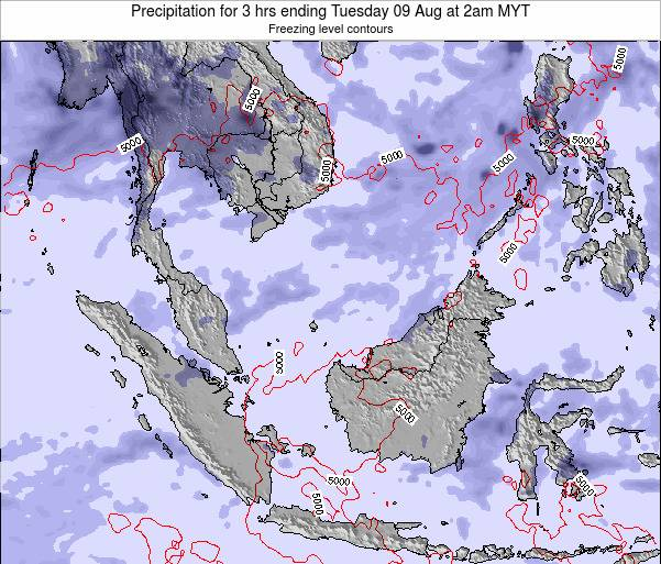 Singapore Precipitation for 3 hrs ending Saturday 02 Aug at 8pm MYT map
