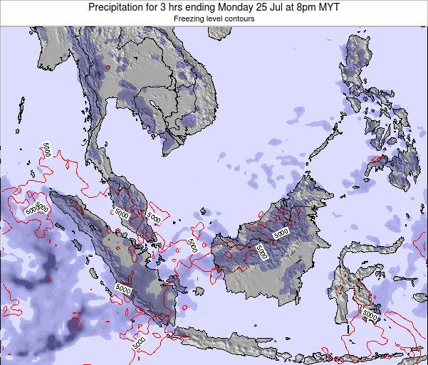 Singapore Precipitation for 3 hrs ending Friday 14 Mar at 8pm MYT map