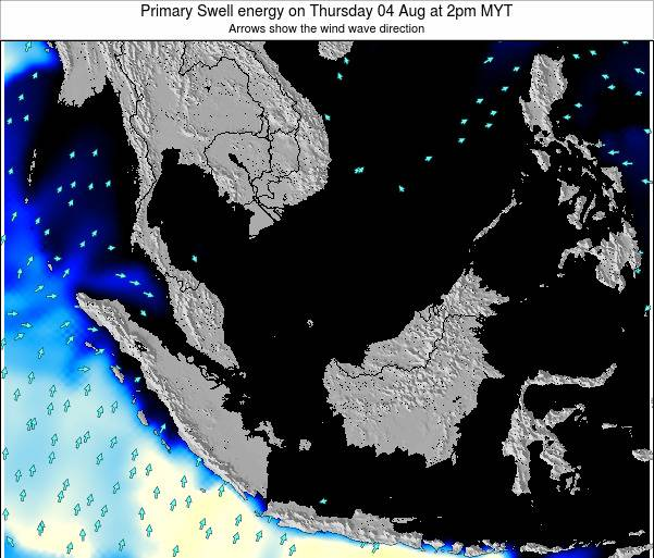 Malaysia Primary Swell energy on Monday 27 May at 8am MYT