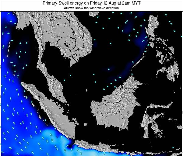 Malaysia Primary Swell energy on Monday 27 May at 2am MYT