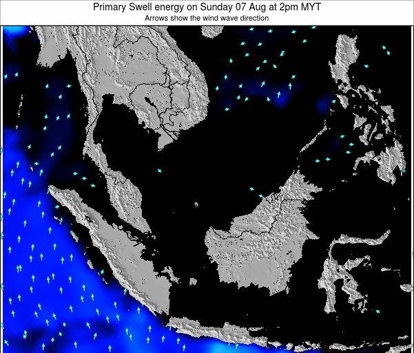 Malaysia Primary Swell energy on Thursday 20 Jun at 2am MYT