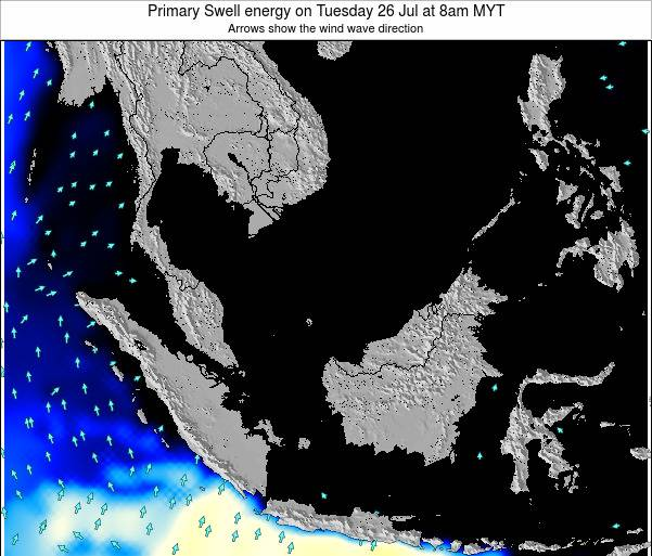 Malaysia Primary Swell energy on Tuesday 21 May at 8am MYT