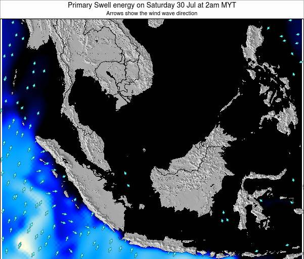 Malaysia Primary Swell energy on Thursday 23 May at 8pm MYT