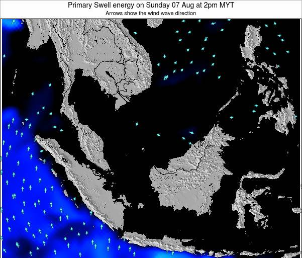 Malaysia Primary Swell energy on Saturday 22 Jun at 2am MYT