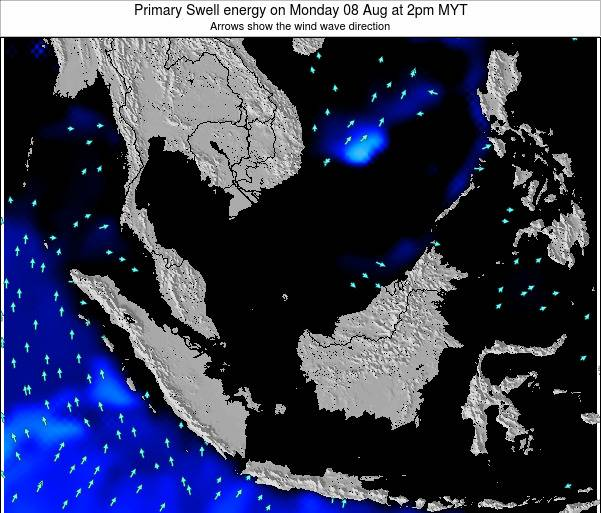 Malaysia Primary Swell energy on Tuesday 28 May at 2pm MYT