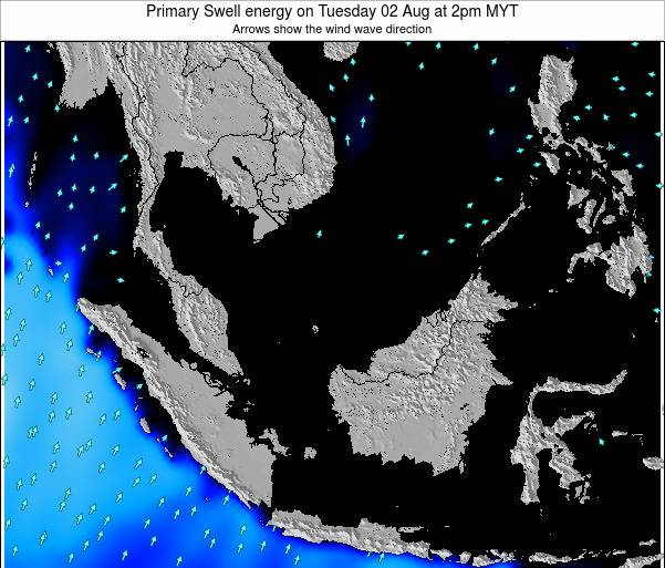 Malaysia Primary Swell energy on Saturday 22 Jun at 8am MYT