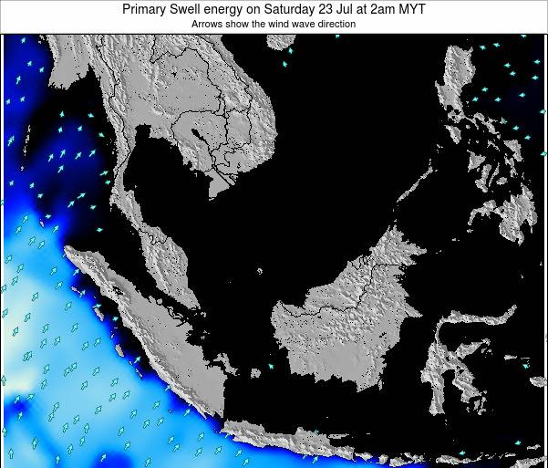 Malaysia Primary Swell energy on Monday 24 Jun at 8am MYT