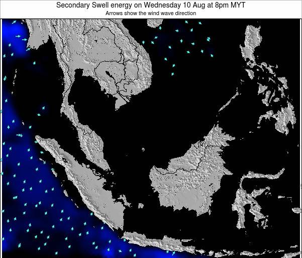 Malaysia Secondary Swell energy on Friday 24 May at 8am MYT