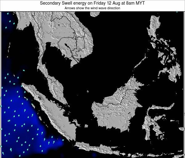 Malaysia Secondary Swell energy on Wednesday 06 Aug at 2am MYT