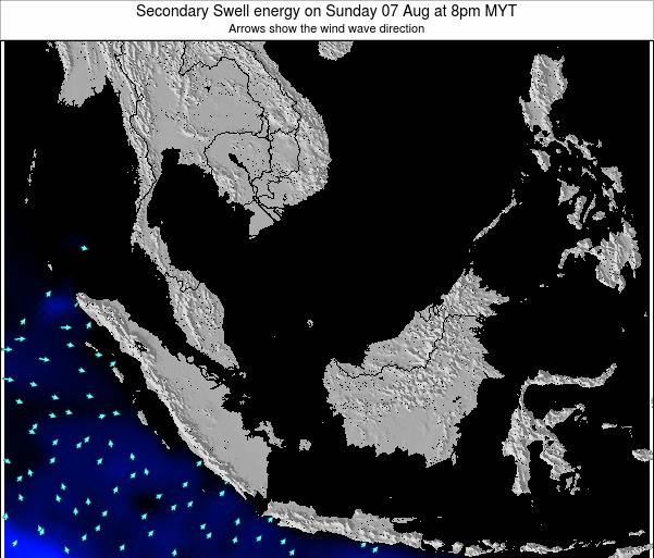 Malaysia Secondary Swell energy on Tuesday 09 Feb at 8am MYT