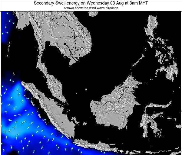 Malaysia Secondary Swell energy on Friday 01 Aug at 2pm MYT