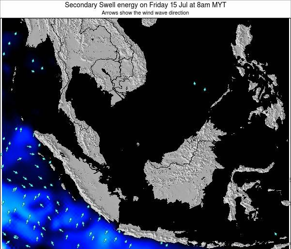 Malaysia Secondary Swell energy on Friday 25 Apr at 8am MYT