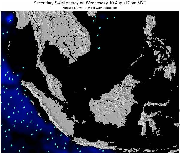 Malaysia Secondary Swell energy on Tuesday 28 May at 2pm MYT