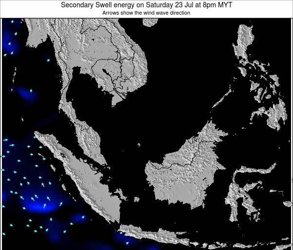 Malaysia Secondary Swell energy on Thursday 12 Dec at 2am MYT