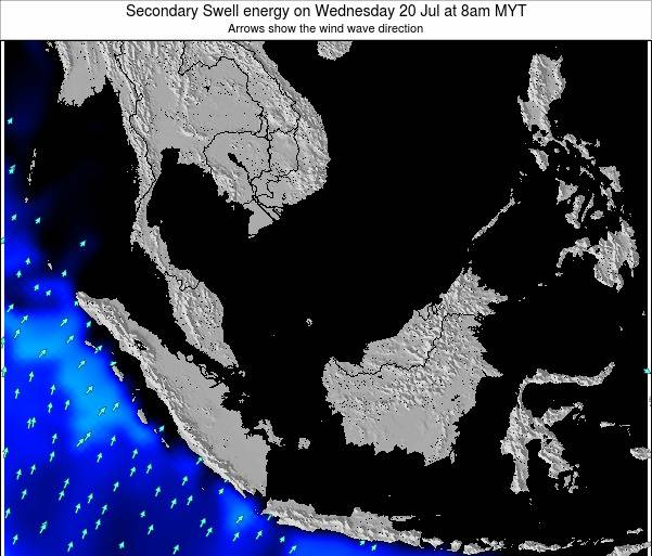 Malaysia Secondary Swell energy on Monday 04 Aug at 2am MYT
