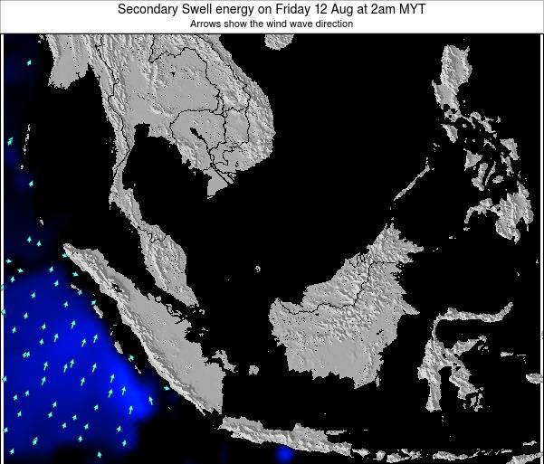 Malaysia Secondary Swell energy on Thursday 15 Oct at 8pm MYT