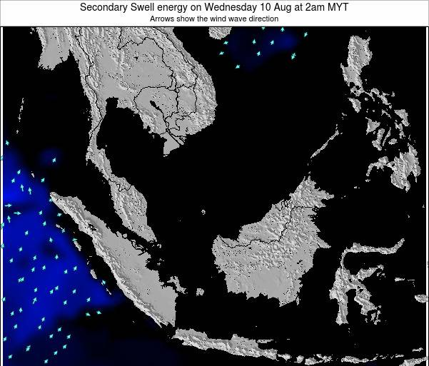 Malaysia Secondary Swell energy on Tuesday 18 Mar at 8am MYT