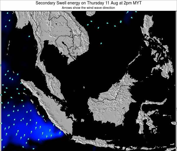 Malaysia Secondary Swell energy on Friday 08 Aug at 8am MYT