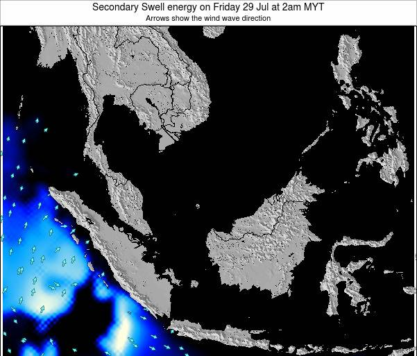 Malaysia Secondary Swell energy on Friday 31 May at 2am MYT