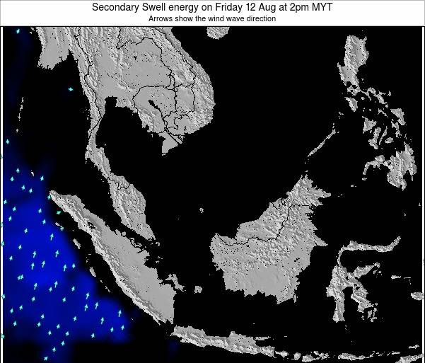 Malaysia Secondary Swell energy on Wednesday 22 May at 8pm MYT