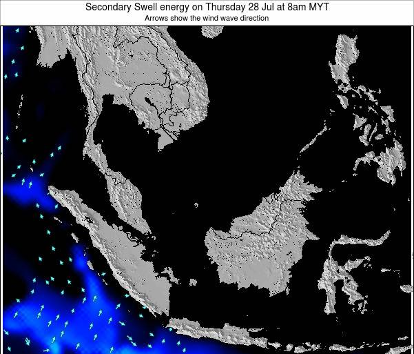 Malaysia Secondary Swell energy on Thursday 13 Mar at 2am MYT